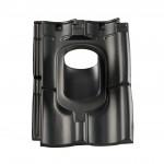 Kunststof dakpan Verbeterde Holle pan 4-pans zwart, voor dakdoorvoer 166, dakhelling 25-45° (0170318)