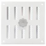 Aluminium afsluitbaar schuifrooster opbouw 155 x 155mm - WIT (3-1616W)