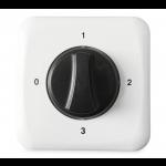 3-standen regelaar (+ uit-stand) voor ventilatoren met 3-standen motor