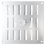Aluminium afsluitbaar schuifrooster opbouw 195 x 195mm - ALU (3-2020AA)