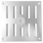 Afsluitbaar schuifrooster opbouw 245 x 245mm - RVS (3-2525I)