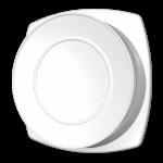 Verstelbaar kunststof ventilatierooster met flens Ø100mm - wit - TOEVOER