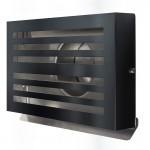 Design gevelkap PREMIUM LINE -BETA- Ø 150mm met grofmazig gaas - ZWART RAL7021