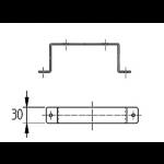 Bevestigingsbeugel voor kanaal 220 x 80mm - Staal