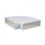 Kunststof horizontale bocht 90° voor kanaal 220 x 90mm