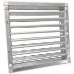 Brandwerend vierkant lamellenrooster 200 x 200mm - High Performance (vloer/buitenmuur toepassing)