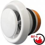 Luchtventiel (toevoer & retour) Ø125mm voorzien van brandwerende vlinderklep