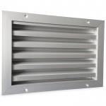 Buitenmuurrooster aluminium (LxH) 300x200mm - naturelkleurig geanodiseerd
