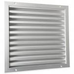 Buitenmuurrooster aluminium (LxH) 400x400mm - naturelkleurig geanodiseerd