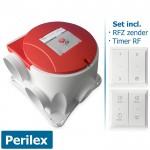 Stork Woonhuisventilator ComfoFan S RP (perilex) - incl. RFZ zender & Timer RF