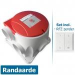 Stork Woonhuisventilator ComfoFan S R (randaarde) - incl. RFZ zender 458004615