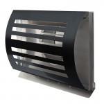 Design gevelkap PREMIUM LINE -DELTA- Ø 125mm met grofmazig gaas - ZWART RAL7021
