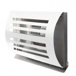 Design gevelkap PREMIUM LINE -DELTA- Ø 125mm met grofmazig gaas - WIT RAL9010