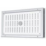 Aluminium afsluitbaar deurrooster 400 x 100mm - WIT & ALU (binnendeur) (G31A-4010)