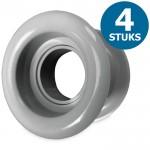 Ronde deurroosters Ø40mm - kunststof grijs - set van 4 stuks