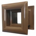 Vierkant deurrooster 29 x 29mm - kunststof bruin