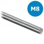 Draadeind/draadstang M8 verzinkt - L = 1000mm