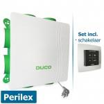 DucoBox Silent met perilex stekker + bedieningsschakelaar RF batterijgevoed