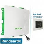 DucoBox Silent met randaarde stekker + bedieningsschakelaar RF batterijgevoed