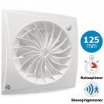 Badkamer/toilet ventilator Blauberg Sileo - Ø 125mm - MET TIMER + BEWEGINGSSENSOR (SILEO125IR)