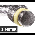 Geïsoleerde flexibele ventilatieslang - Aluminium - Ø80mm - Lengte 1 METER