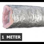 Geïsoleerde flexibele ventilatieslang - Aluminium - Ø125mm - Lengte 1 METER