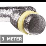 Geïsoleerde flexibele ventilatieslang - Aluminium - Ø160mm - Lengte 3 METER