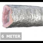 Geïsoleerde flexibele ventilatieslang - Aluminium - Ø125mm - Lengte 6 METER