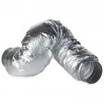 Flexibele geluidsdemper met verbinding buis Ø 100mm (binnenmaat) non-woven