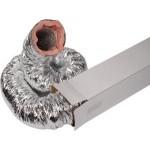 Geïsoleerde aluminium flexibele slang Ø 127mm (binnenmaat) - DOOS a 10 meter