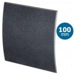 Design ventilatierooster vierkant (afvoer & toevoer) Ø100mm - kunststof - grafiet DELUXE