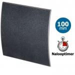 Pro-Design badkamer/toilet ventilator - MET TIMER (KW100T) - Ø100mm - kunststof - grafiet DELUXE