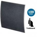 Pro-Design badkamer/toilet ventilator - TREKKOORD (KW100W) - Ø100mm - kunststof - grafiet DELUXE
