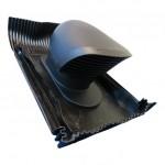 Renson design dakdoorvoer 150/160mm - universeel voor schuin dak - zwart