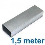Rechthoekig (instort) kanaal 220 x 80mm - 1,5 meter - staal