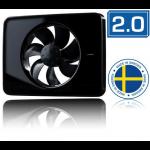 Nedco Fresh Intellivent design badkamerventilator 2.0 - ZWART (330001)