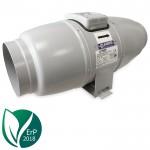 Blauberg ISO-MIX 160 stille buisventilator (geïsoleerd) - staal - max 550 m3/h - aansluiting 160mm