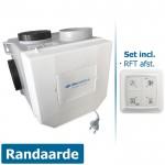 Itho woonhuisventilator met vochtsensor CVE-S ECO RFT SE - eurostekker - inclusief RFT AUTO afstandsbediening