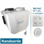 Itho woonhuisventilator met vochtsensor CVE-S ECO RFT SE - eurostekker - incl. RFT AUTO + 4 ventielen (Alles-in-1-pakket)