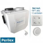 Itho woonhuisventilator met vochtsensor CVE-S ECO RFT SP - perilex - incl. RFT AUTO + 4 ventielen (Alles-in-1-pakket)