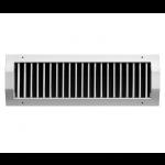 Enkel instelbaar kanaalrooster (buis Ø150mm - Ø400mm) staal 325 x 75mm - toevoer en afvoer