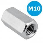 Koppelmoer M10 - zeskant - L = 40mm