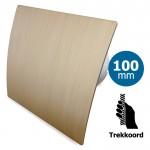 Pro-Design badkamer/toilet ventilator - TREKKOORD (KW100W) - Ø 100mm - kunststof - goud