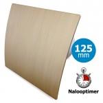 Pro-Design badkamer/toilet ventilator - MET TIMER (KW125T) - Ø125mm - kunststof - goud