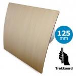 Pro-Design badkamer/toilet ventilator - TREKKOORD (KW125W) - Ø 125mm - kunststof - goud