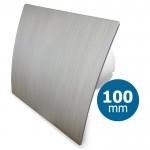 Pro-Design badkamer/toilet ventilator - STANDAARD (KW100) - Ø100mm - kunststof - zilver