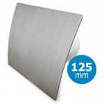 Pro-Design badkamer/toilet ventilator - STANDAARD (KW125) - Ø125mm - kunststof - zilver