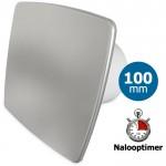 Pro-Design badkamer/toilet ventilator - MET TIMER (KW100T) - Ø100mm - RVS *Bold-Line*