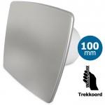Pro-Design badkamer/toilet ventilator - TREKKOORD (KW100W) - Ø 100mm - RVS *Bold-Line*