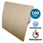 Pro-Design badkamerventilator - TIMER + VOCHTSENSOR (KW100H) - Ø 100mm - kunststof - goud
